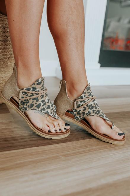 Very G Angelika Leopard Sandals