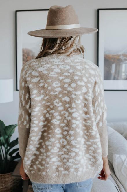 Georgina Leopard Fuzzy Cardigan