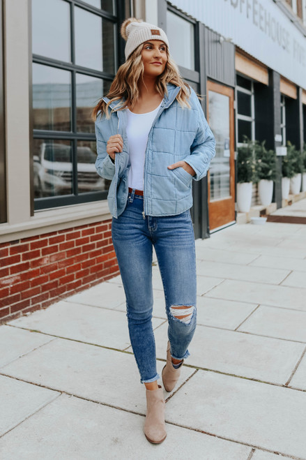 Dreamweaver Chambray Quilted Jacket