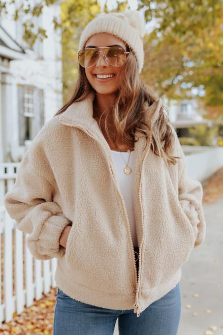 Zip Up Cozy Sherpa Jacket
