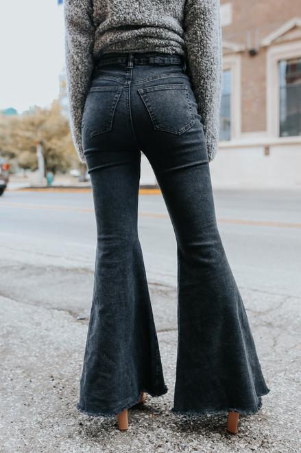 Twilight Zone High Waist Flare Jeans