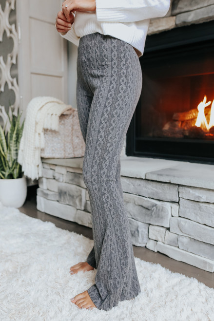 Vail Chalet Cable Flare Pants