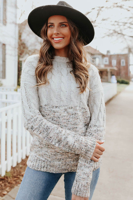Tinsley Cable Confetti Mixed Sweater