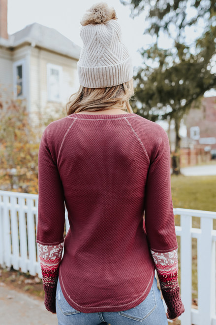 Free People In the Mix Rio Vino Cuff Top