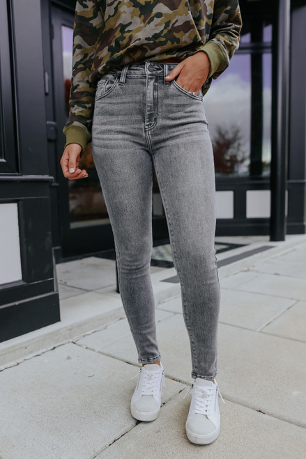 Fade to Grey High Rise Skinny Jeans