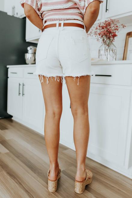 Free People Makai Off White Cut Off Shorts