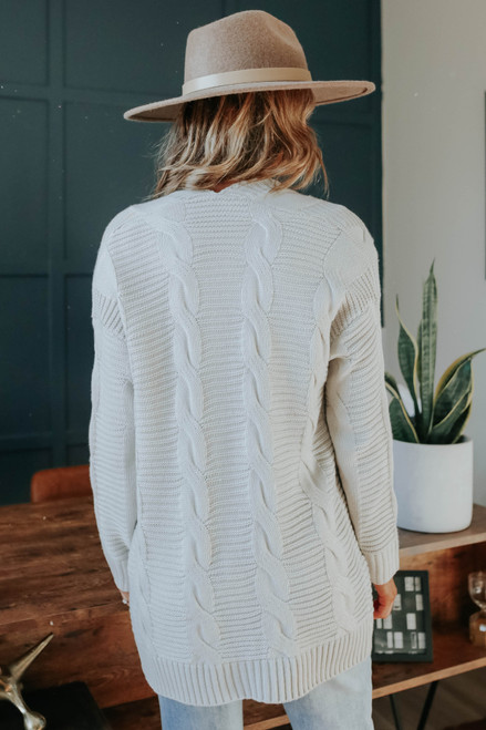 North Mountain Grey Cable Cardigan