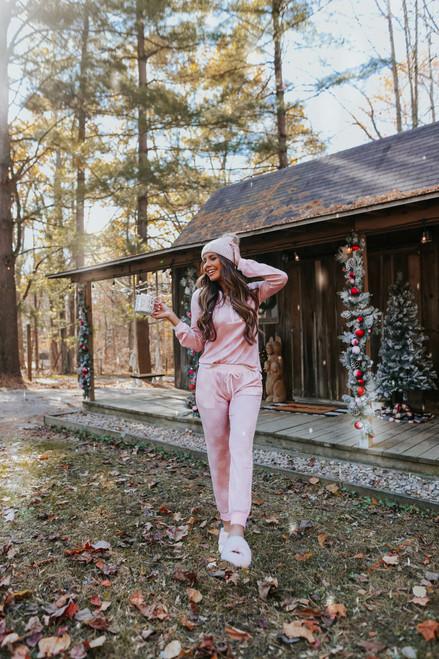 Snowflake Wishes Pink Pajama Set - FINAL SALE