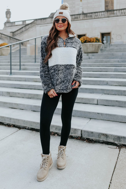 Cuddle Weather Colorblock Sherpa Pullover