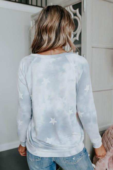 All Star Tie Dye Star Pullover