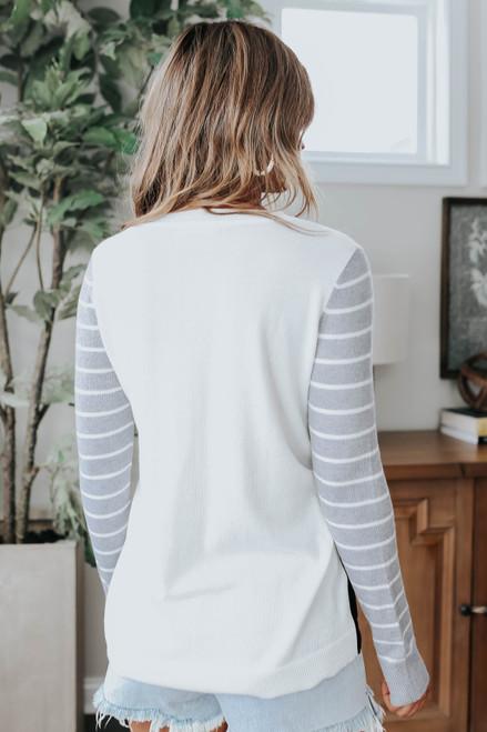 Contrast Leopard Colorblock Sweater