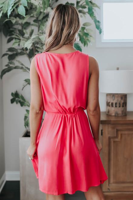 Fruit Punch Button Down Drawstring Dress