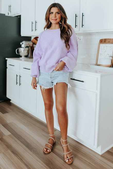 Free People Found My Friend Lilac Pullover