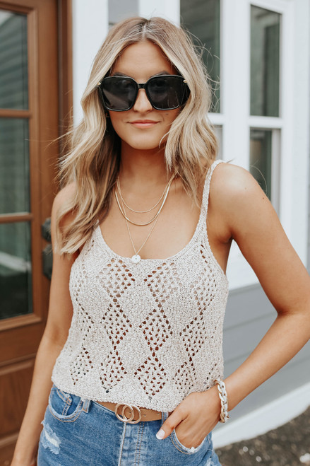 Free People Glisten Sea Shell Tank