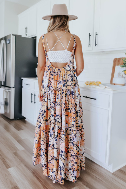 Free People Park Slope Floral Maxi
