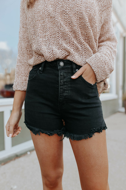 Free People CRVY Vintage High Rise Shorts