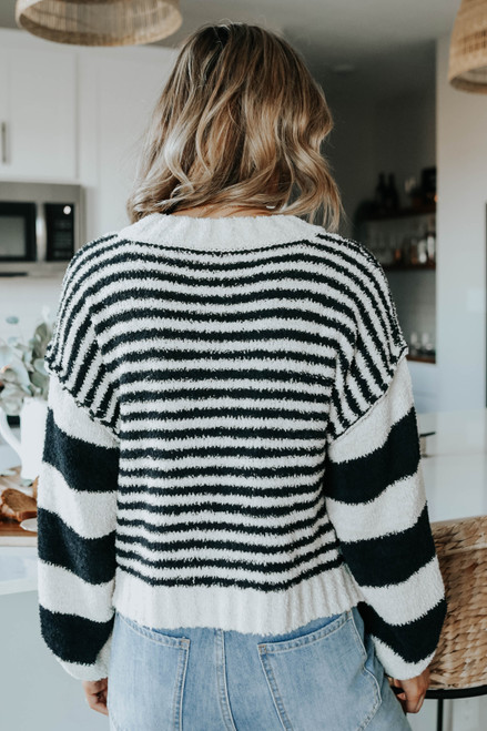 Instant Classic Striped Terry Sweater