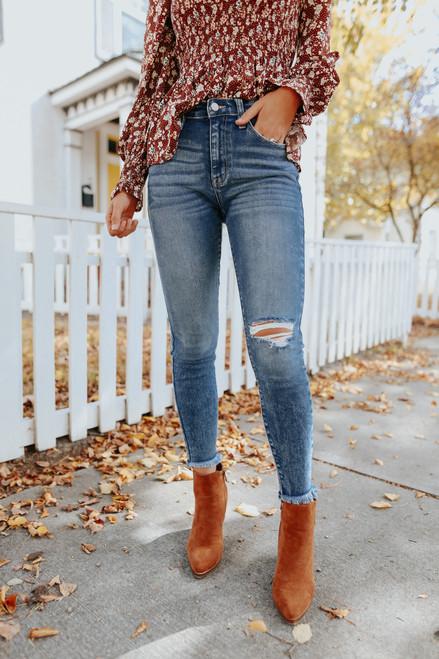 Millennium Dark Wash Skinny Jeans