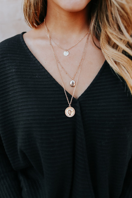 Hera Layered Coin Necklace