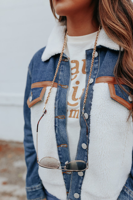 Suede Linked 3-Way Chain