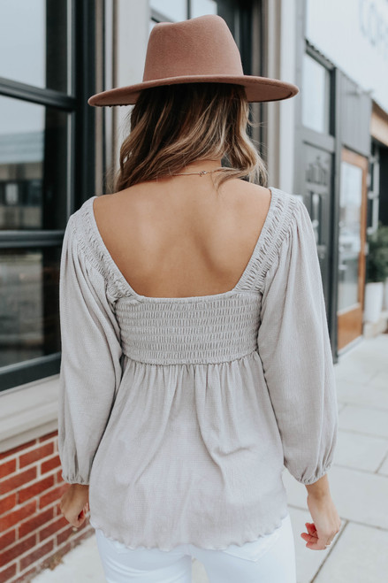 Square Neck Sweetheart Empire Top