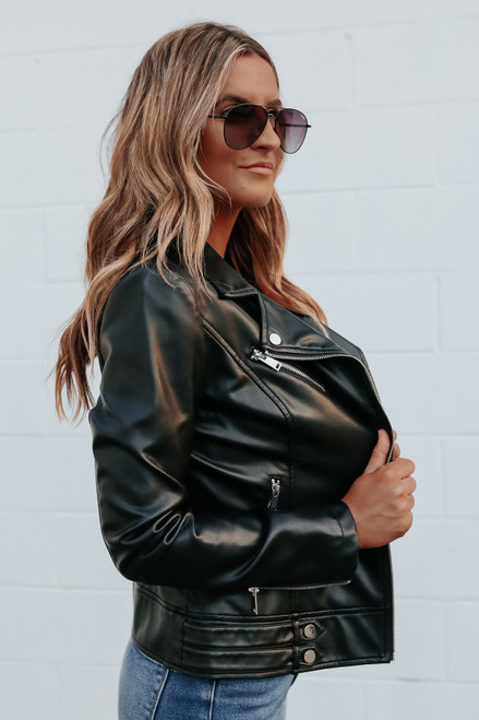 Rockstar Vegan Leather Moto Jacket