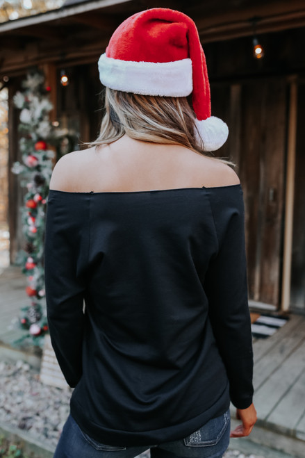 Off the Shoulder Merry Pullover