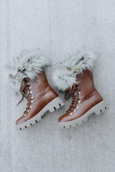 Aurora Faux Fur Combat Boots