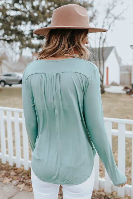 Surplice Meadow Draped Top