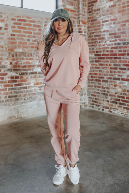 Drawstring Peach Terry Joggers