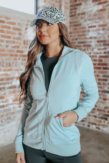 High Energy Seafoam Zip Up Jacket