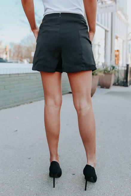 In the City Black Shorts