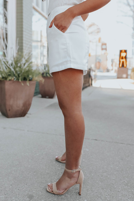 In the City White Shorts - FINAL SALE
