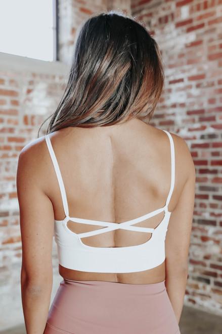 Cross Back White Bralette