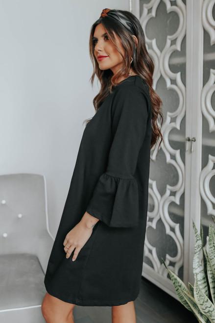 Extra Sweet Black Shift Dress