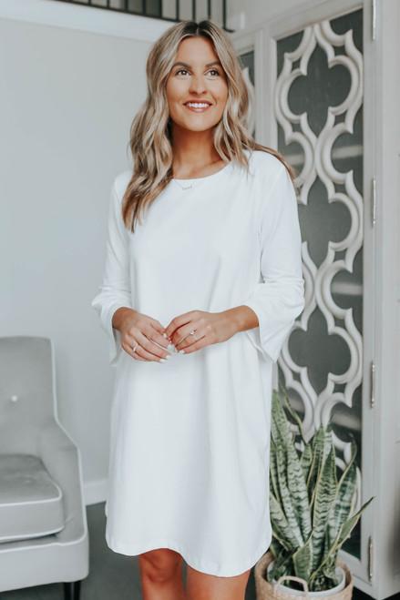 Extra Sweet White Shift Dress
