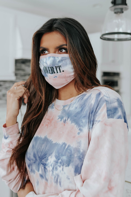 Over It Tie Dye Pullover & Face Mask Set