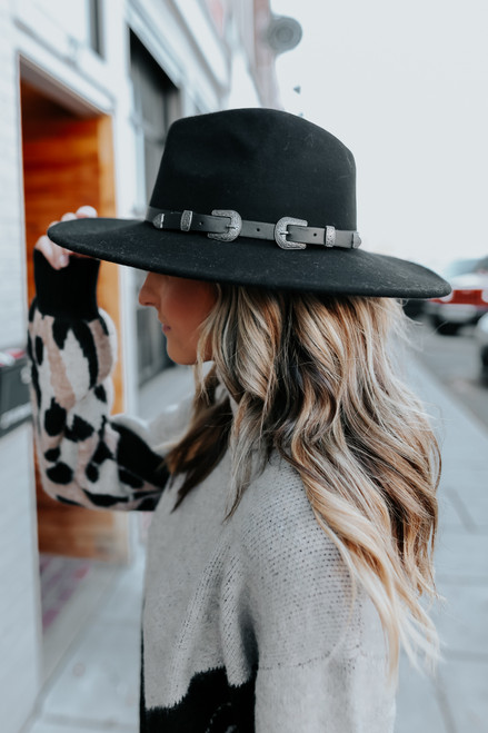 Napa Valley Black Western Belted Hat