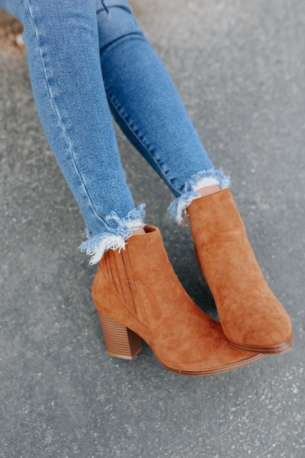Matchmaker Faux Suede Booties