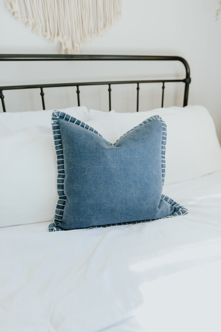 "20""x 20"" Contrast Stitch Pillow Cover"