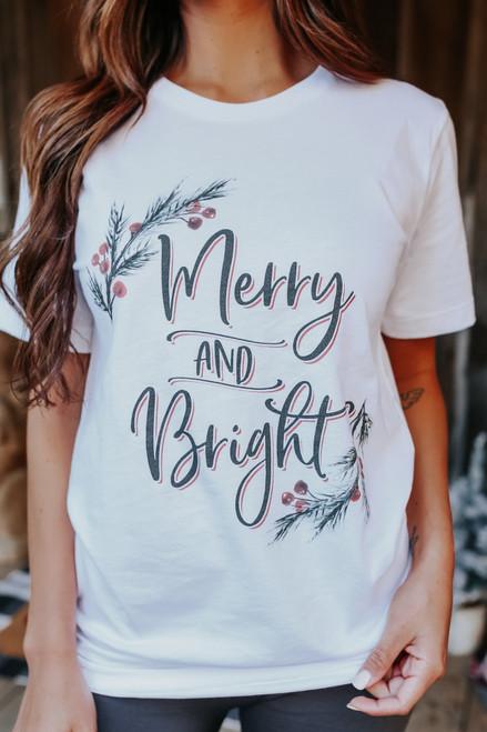 Merry & Bright Holly Tee