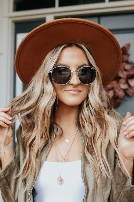 Quay Jezabell Twist Gold Round Sunglasses