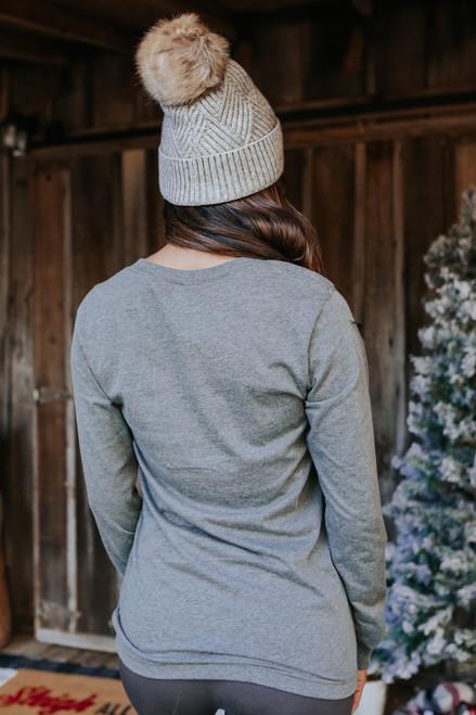 Long Sleeve Printed Christmas Tree Tee