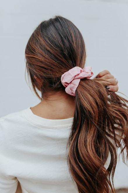 Headbands of Hope Blush Scrunchie