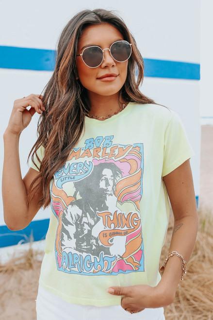 Daydreamer Bob Marley Don't Worry Girlfriend Tee