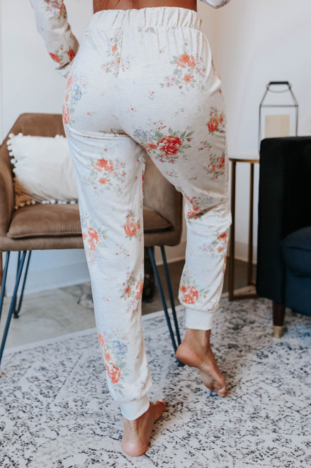 On the Agenda Floral Joggers