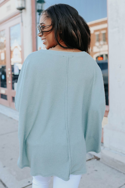 Easy Breezy Dolman Ribbed Top