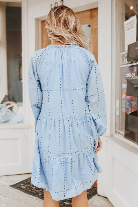Coastal Breeze Eyelet Babydoll Dress