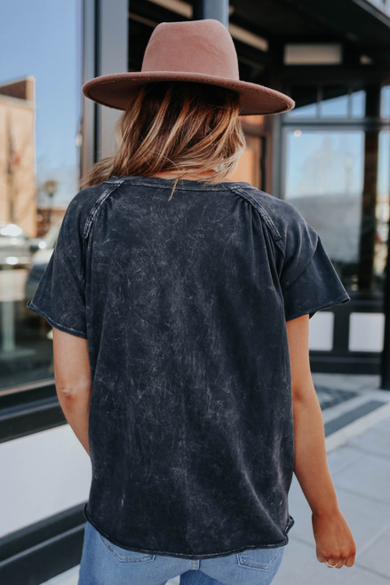 Vintage Wash Charcoal Pocket Tee