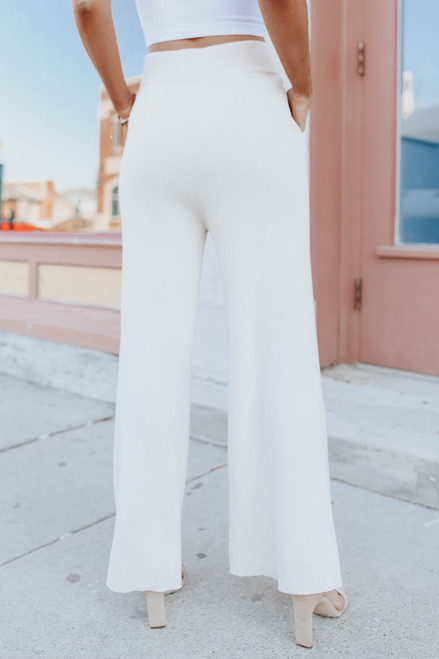 Chesapeake Bay Ribbed Wide Leg Pants